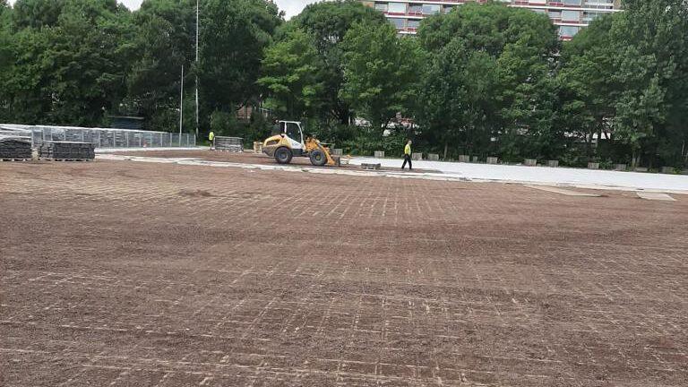 Aanleg van het veld is begonnen
